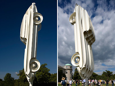 Gigantic Jaguar E-Type Sculpture Seen On www.coolpicturegallery.us