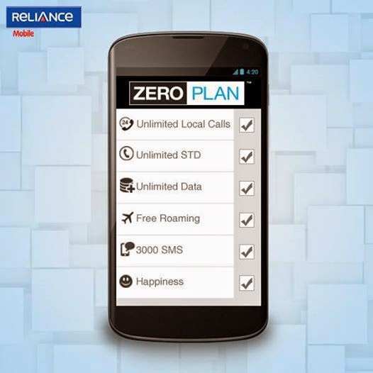 Reliance CDMA Zero plan offer