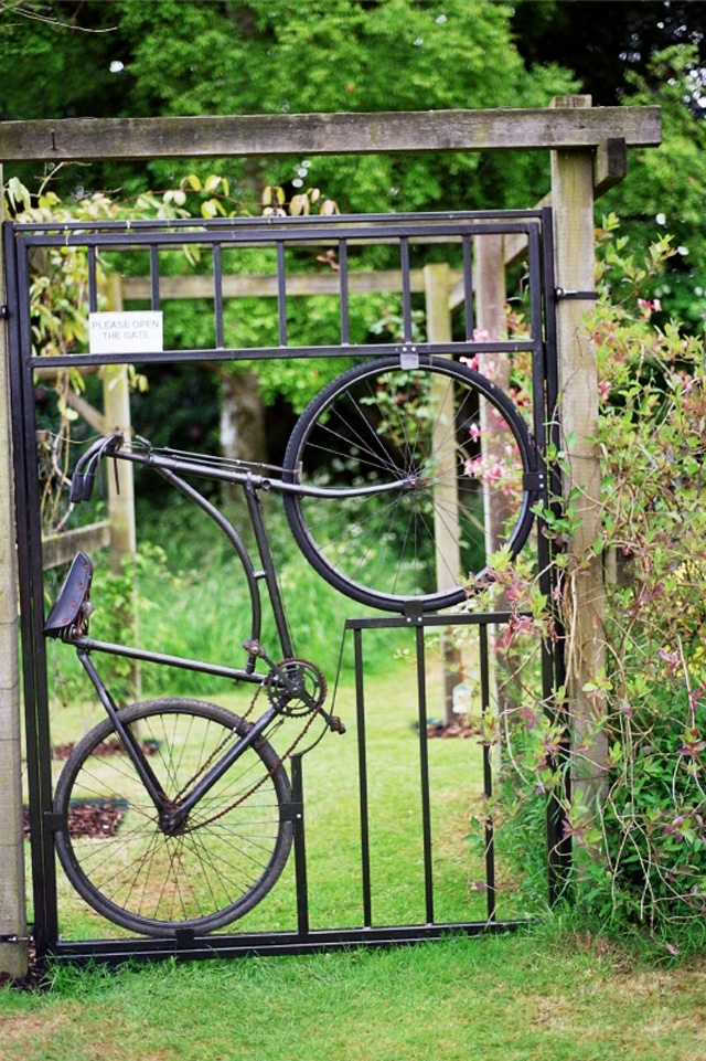 5 porteiras feitas com peças de bicicletas