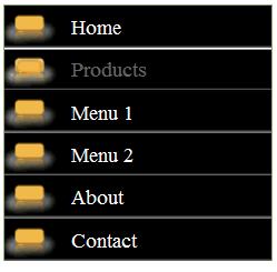 css vertical menu, free css vertical menu bar, simple menu bar