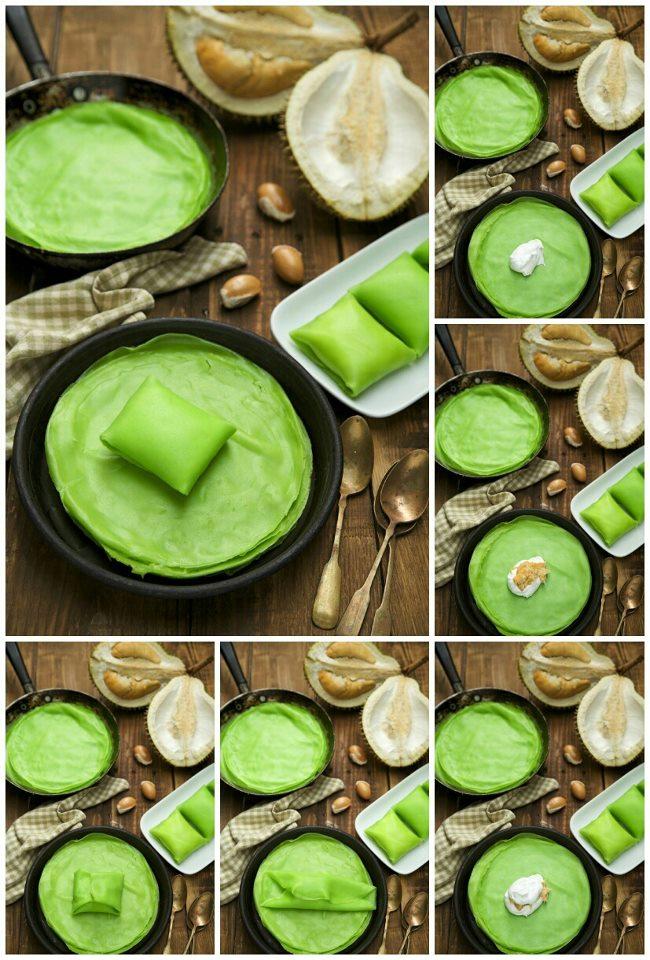 durian crepe hijau uolssbiasa tengok color kuning aje kan