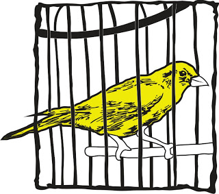 Caged Canary -- credit: gauchemanitoba.blogspot.com