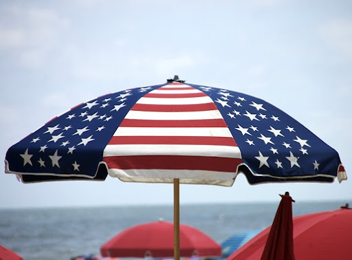 patriotic beach umbrella