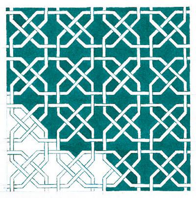 Arts plastiques claude mass 5 mes un papier peintre - Carrelage motif geometrique ...
