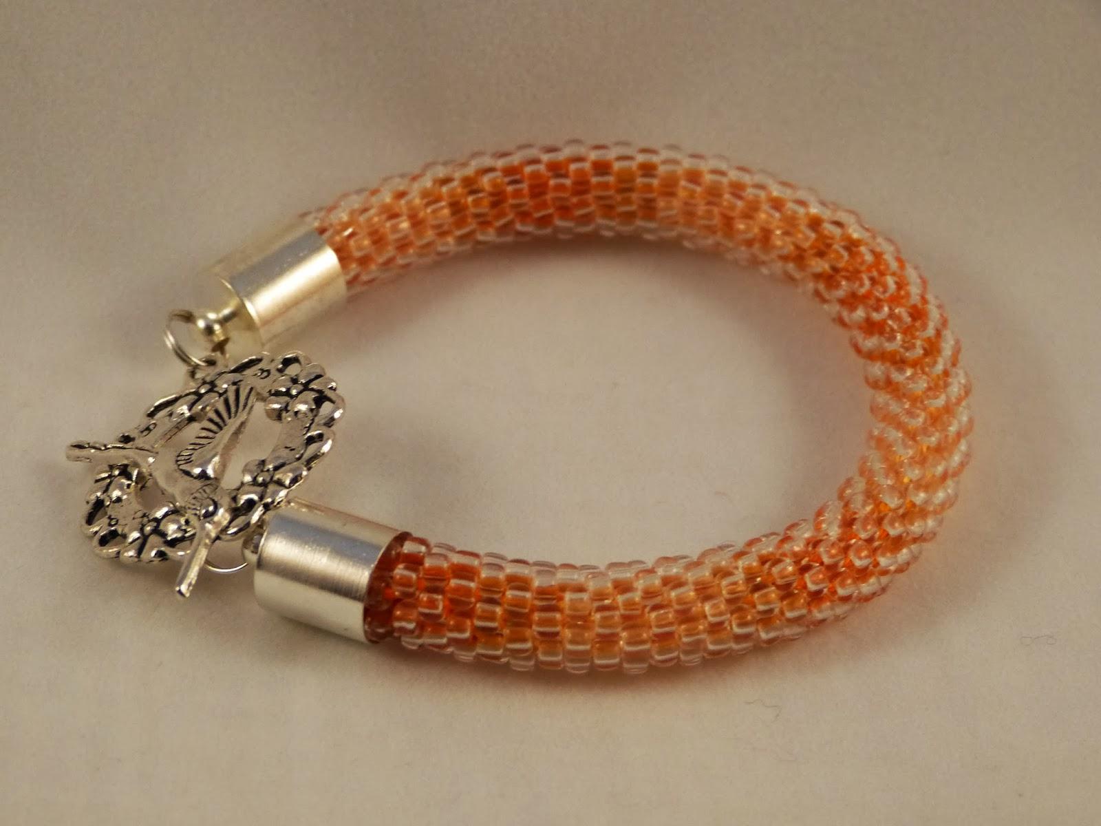 bransoletka szydełkowa - koralikowa, bracelet crochet,