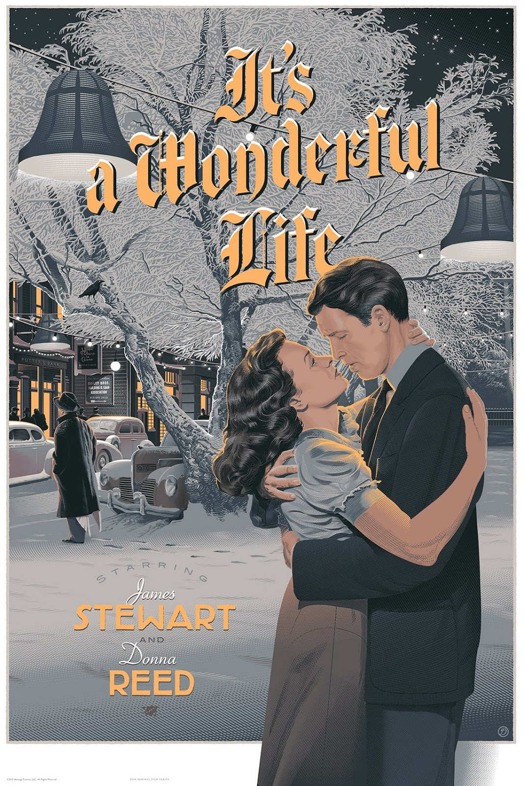 Inside The Rock Poster Frame Blog Laurent Durieux It 39 S A Wonderful Life Poster Release