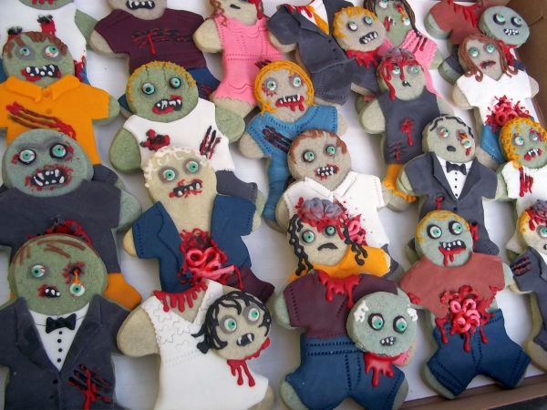 zombie party cookies