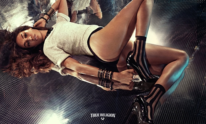 Joan Smalls goes sexy for the True Religion Spring/Summer 2015 Campaign