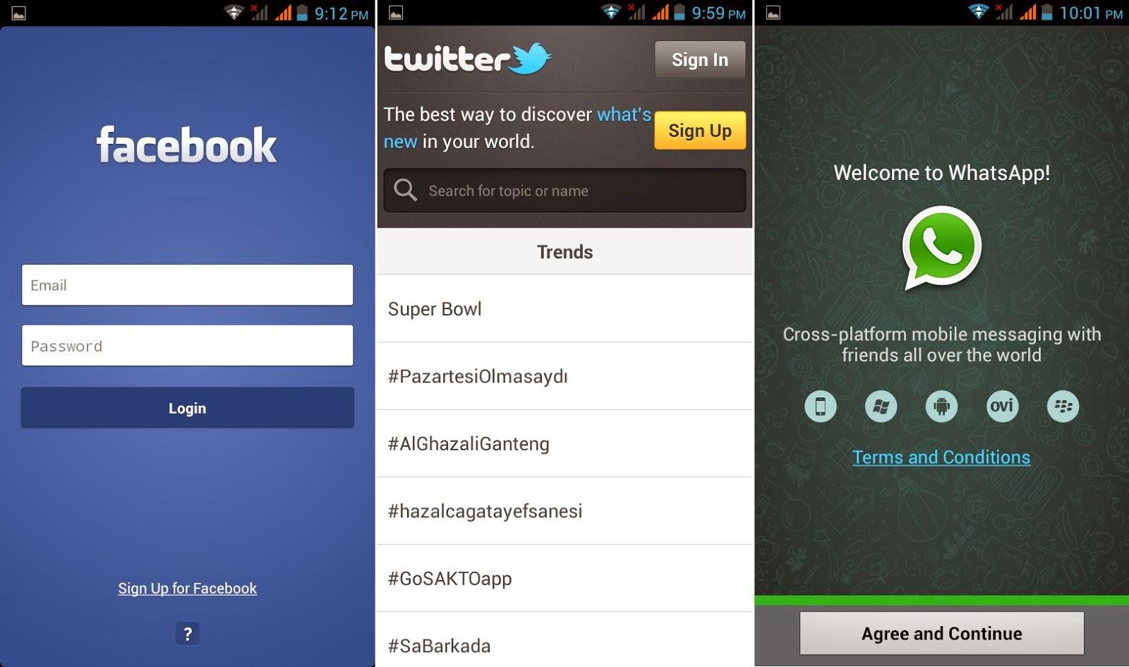 DTC Mobile GT15 Astroid Fiesta Facebook, Twitter & WhatsApp