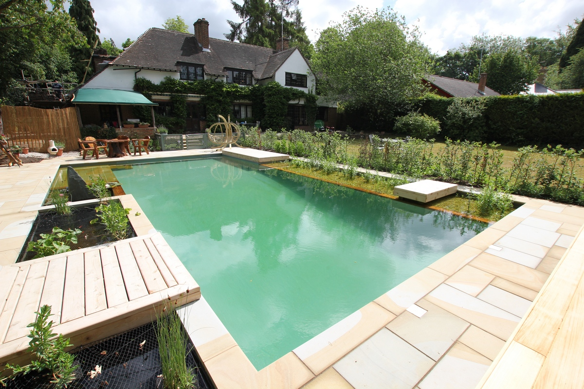 pool which pushes the boundaries of natural swimming pool technology