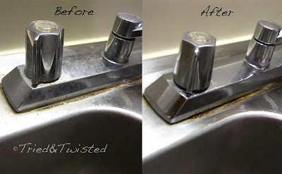 Homemade Sink Cleaner Before and After | Tried & Twisted