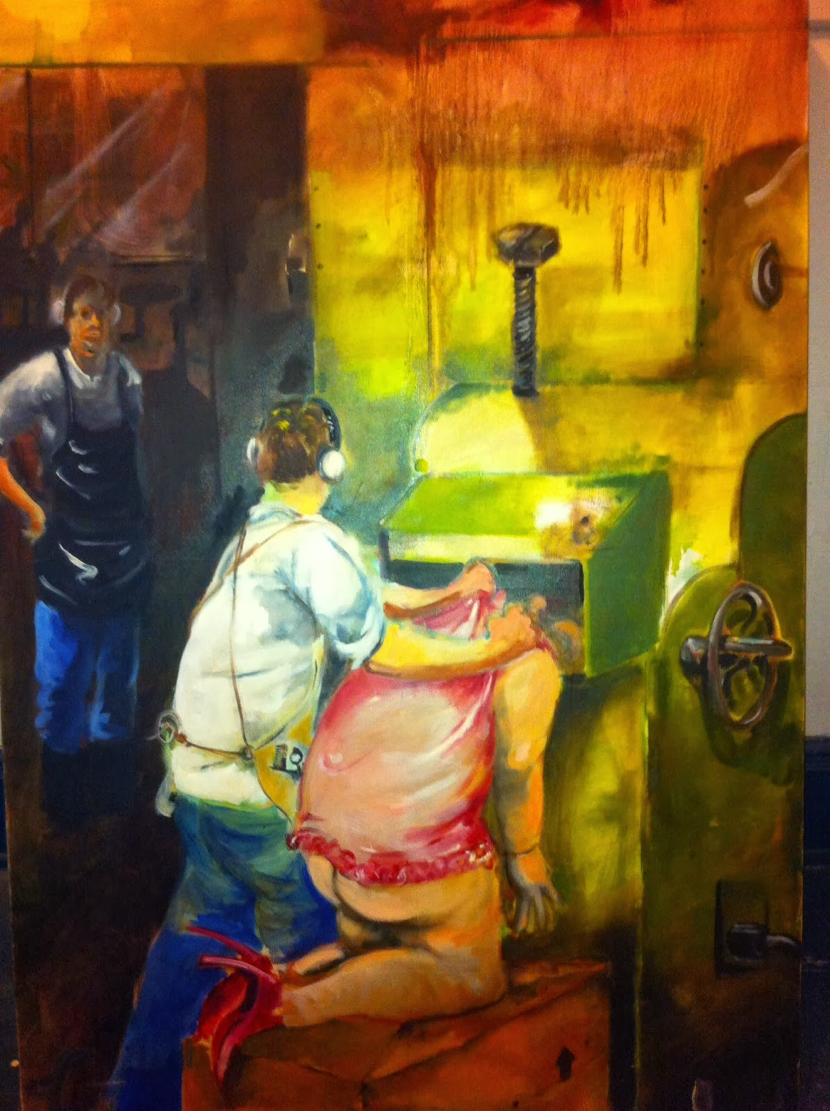 Sam Birchman The Other Three Points New Oil Paintings