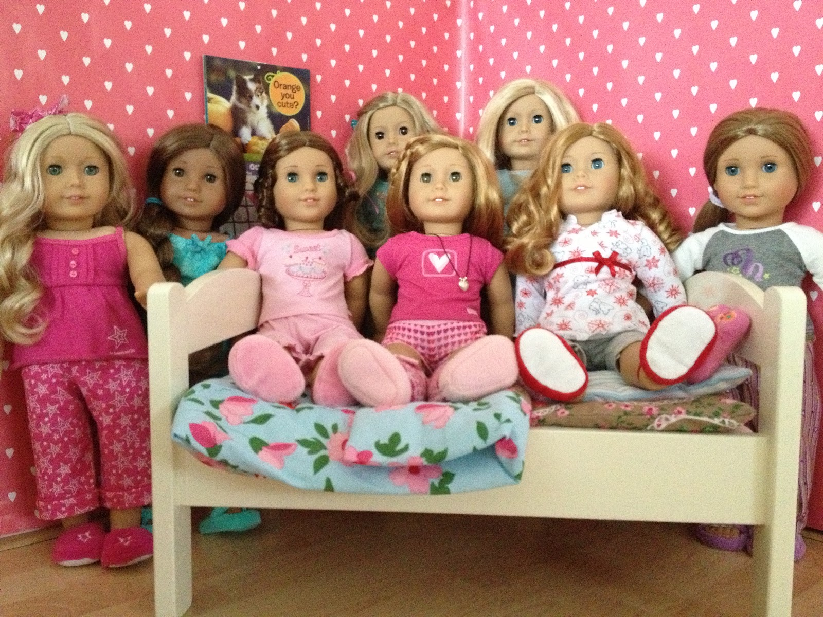 Pretty Lilly an American Girl: PJ Sleepover Party!