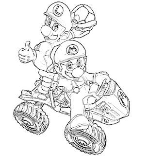 Desenhos mario bros desenhos para colorir online - Coloriage mario kart 8 ...
