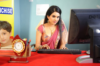 Actress Kavya Singh Latest Pictures in Red Saree 0034