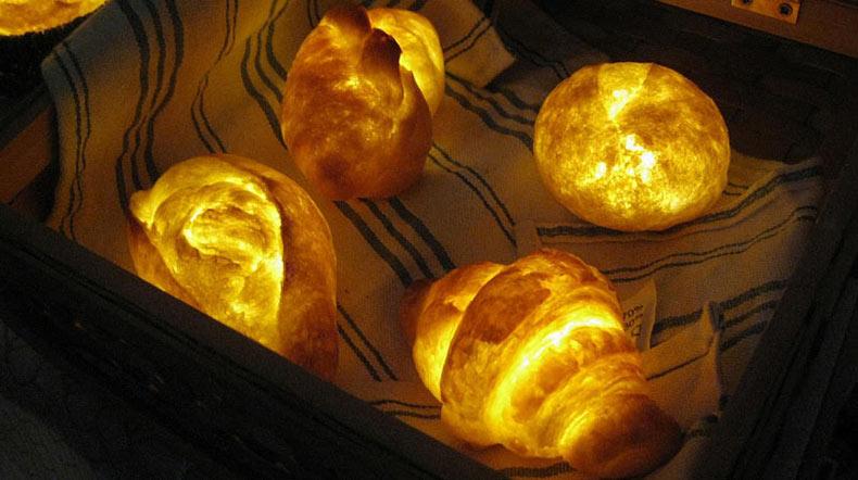 Buena idea de decoración para las fiestas: Los Panes Lámparas que brillan intensamente