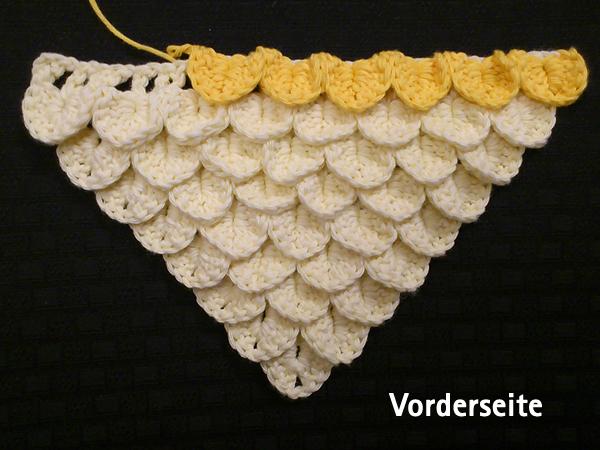 Crocodile stitch anleitung deutsch