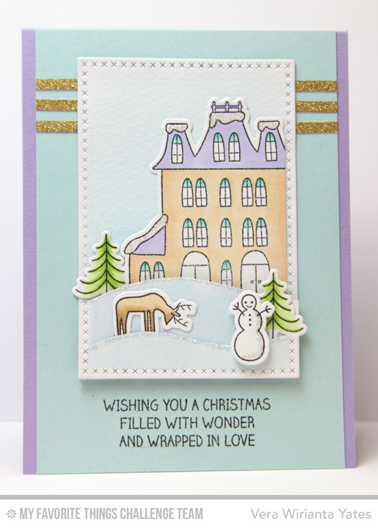 Christmas Wonder Card by Vera Wirianta Yates featuring the Winter Wonderland stamp set and Die-namics #mftstamps