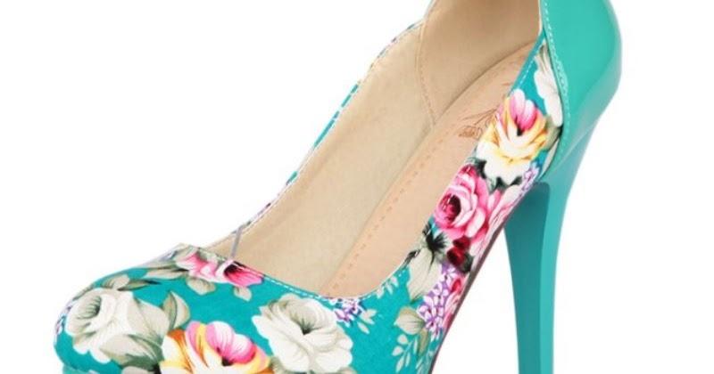 SuperDeals: New fashion Flower Print high heels platform single shoes ...