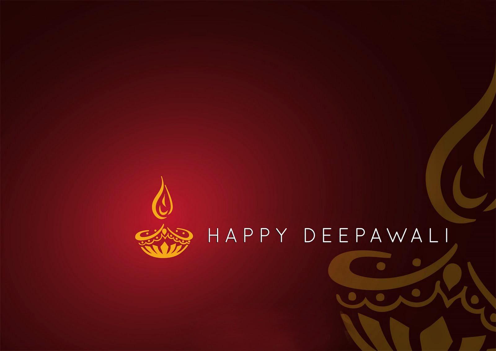 Simple Brown Happy dipawali wallpaper (Wallpaper groups)