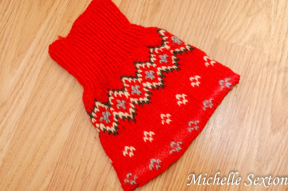 make sweater sleeves into boot cuffs