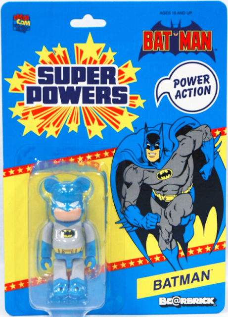 San Diego Comic-Con 2012 Exclusive Light Blue & Gray Batman DC Comics Be@rbrick by Medicom in Super Powers Inspired Blister Card Packaging