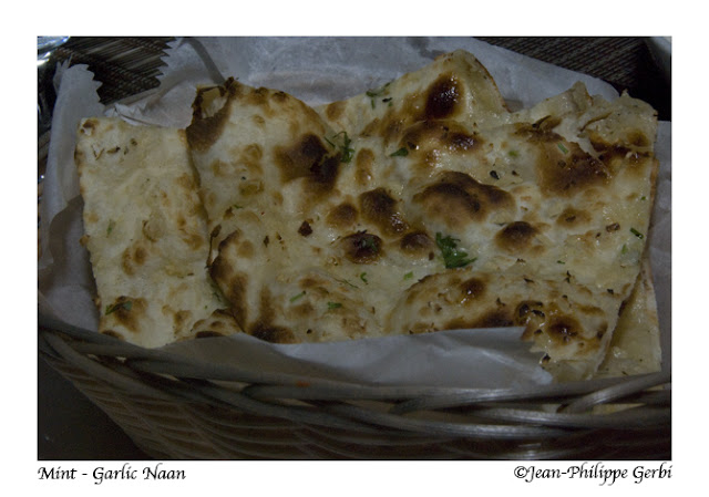 Image of Garlic Naan at Mint Indian restaurant in NYC, New York