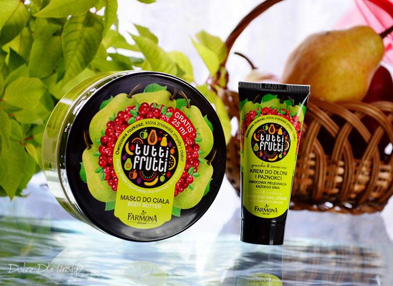 Farmoną Tutti Frutti Gruszka & Żurawina masło do ciała i krem do rąk