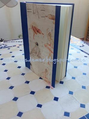 Cuaderno realizado con la técnica del cartonaje