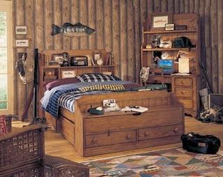 A rustic bedroom