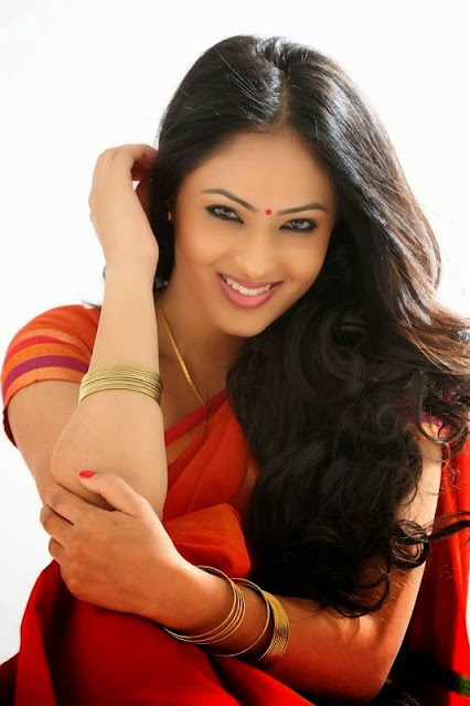 Nikesha Patel Beautiful In Saree