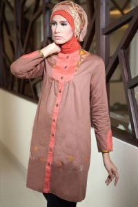 Azka Sarimbit V2 Blus TS55 - Coklat (Toko Jilbab dan Busana Muslimah Terbaru)