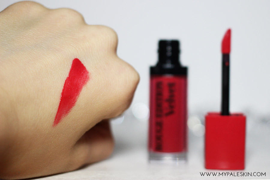 Bourjois, Rouge Edition Velvet Lipstick, Frambourjois Review Swatch, Pale Skin, My Pale Skin Blog