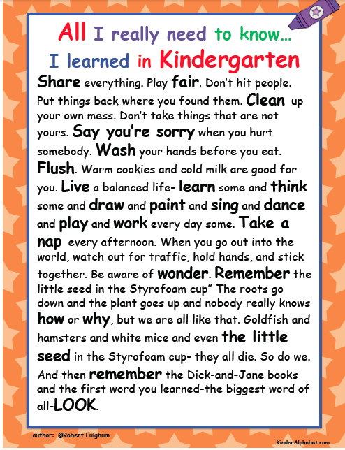 http://www.amazon.com/Really-Need-Know-Learned-Kindergarten/dp/034546639X
