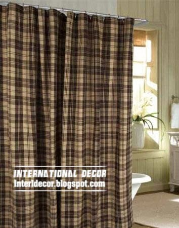 latest designs of shower curtains for rustic bathroom