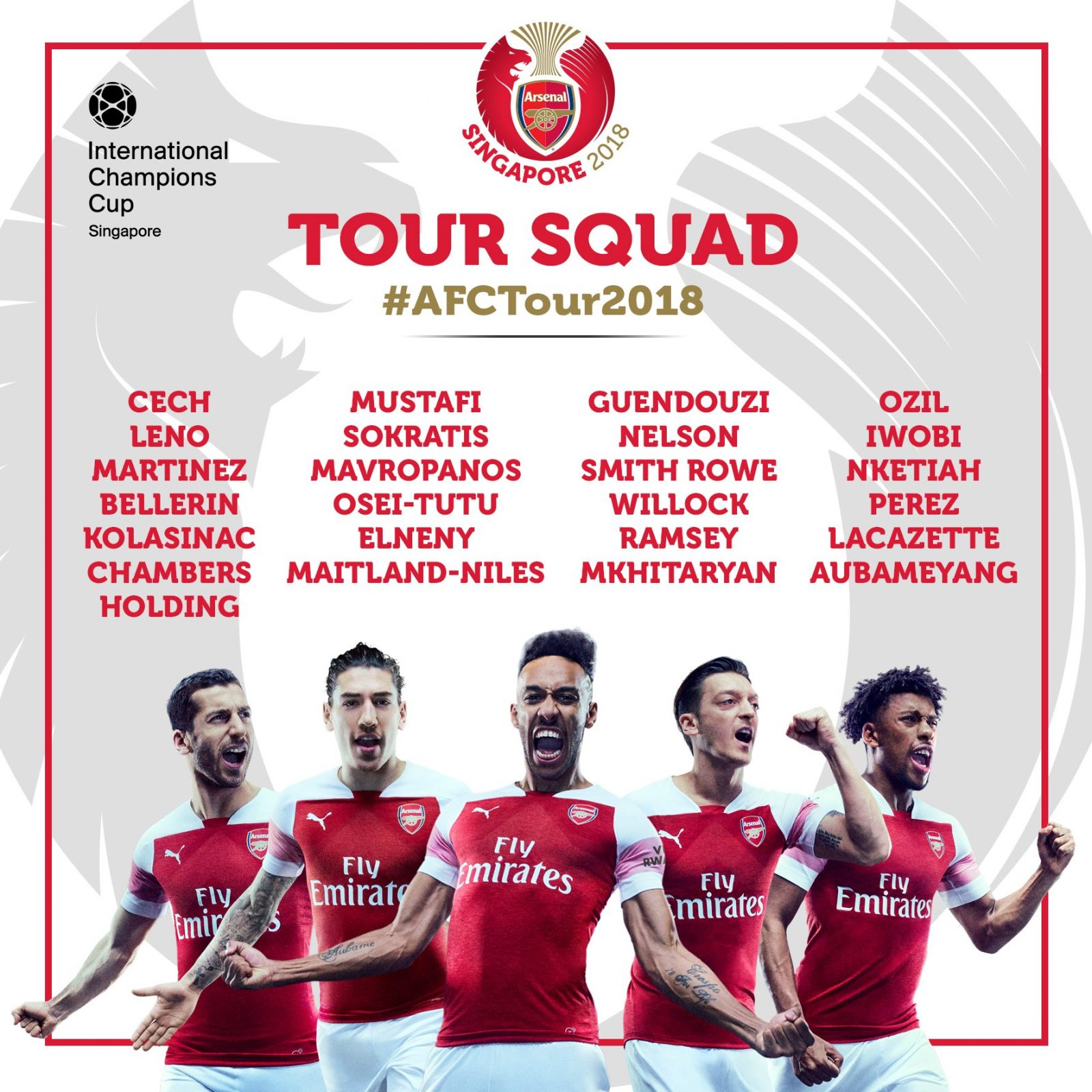 Iwobi name in Arsenal's 25-man squad for pre-season tour