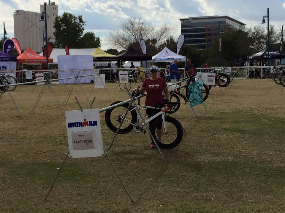 Half Ironman Bike Check-in