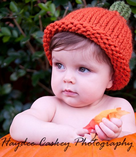 4asong Free Simple Chunky Pumpkin Hat Knitting Pattern