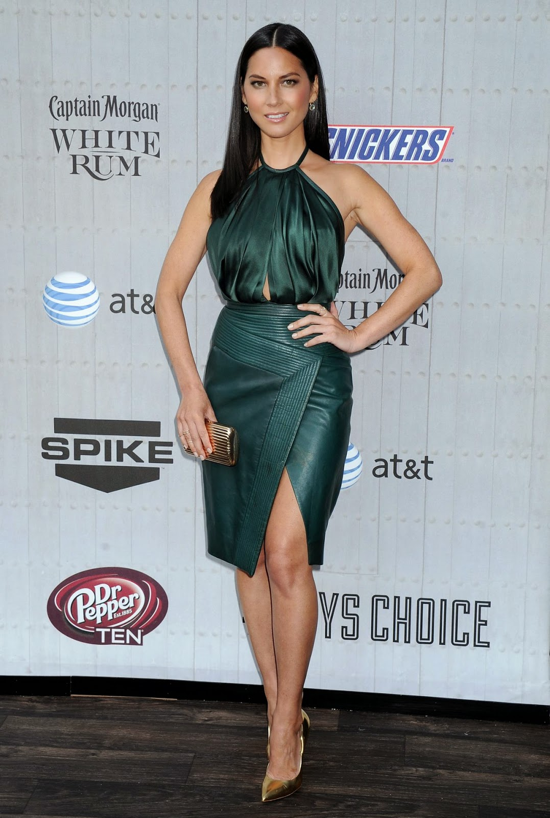 Olivia Munn in a halter neck J. Mendel dress at the 2014 Spike TV\'s ...