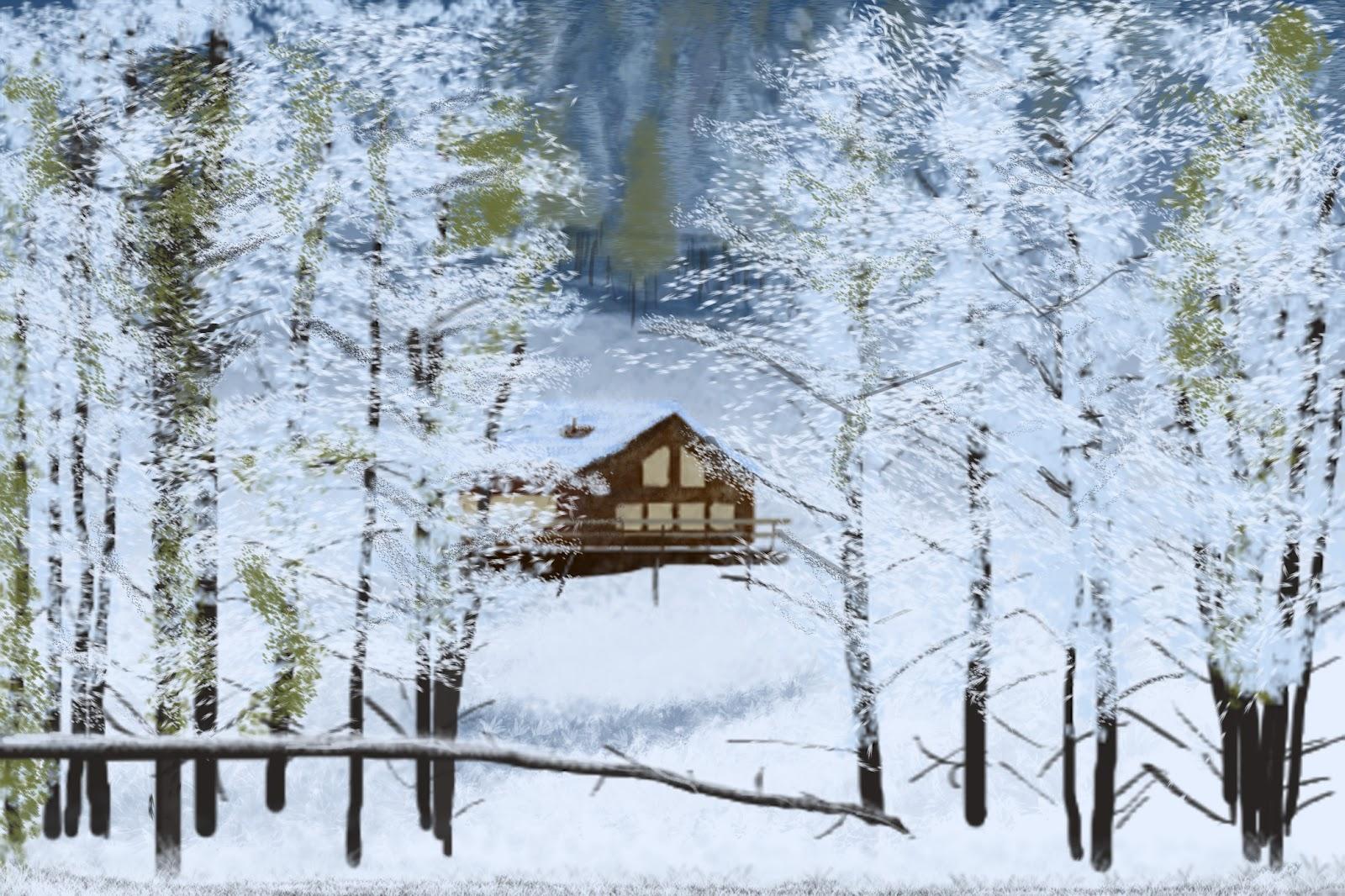 Creative Hoopla Speed Painting Log Cabin