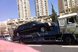obama limo breaks down israel