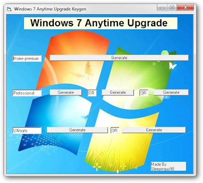 windows 7 anytime upgrade key professional