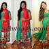Model in Sea Green Crepe Salwar