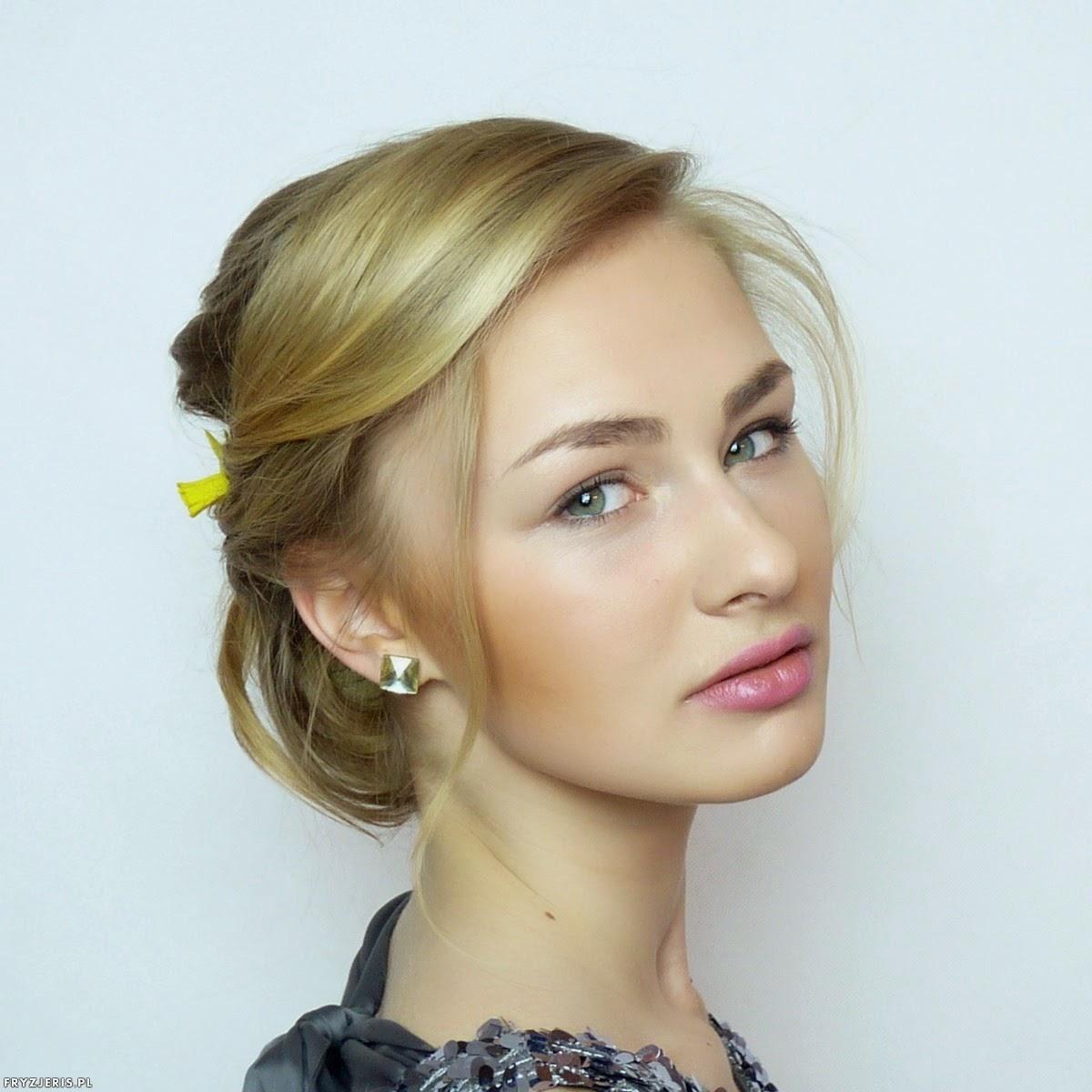 Daria Kozieł - fryzura ślubna z kwiatami