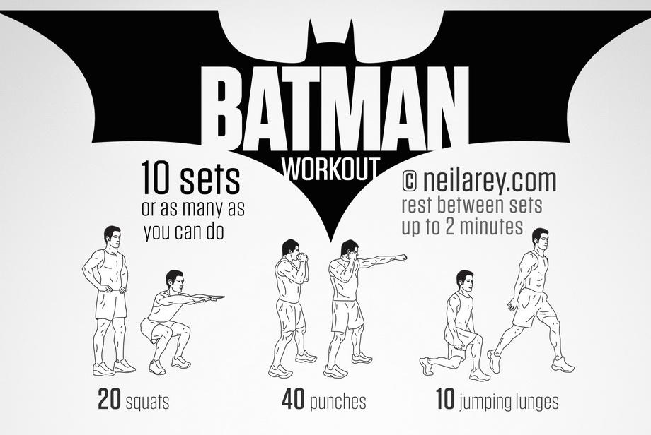 Das NR Projekt - Workouts wie Batman, Super Mario und cO oder lieber komplette kostenlose Trainings- oder Ernährungspläne  - Fit wie Batman - Atomlabor Blog Webtipp
