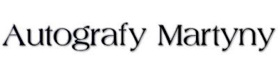 Autografy Martyny