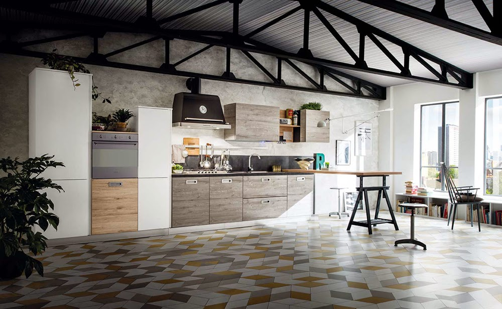 Una cucina urban style coffee break the italian way for Arredamento industriale ikea