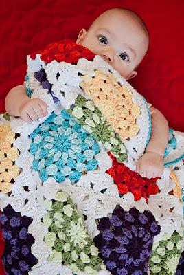 free crochet pattern bright spots granny square blanket