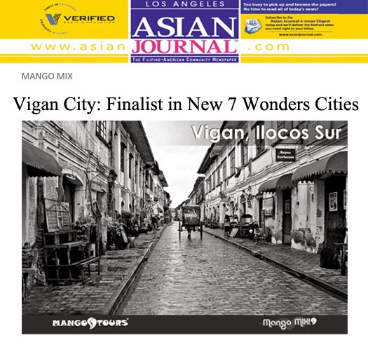 Mango Mix Vigan Finalist in New 7 Wonders Cities