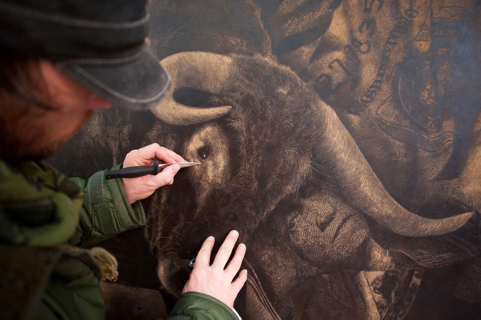03-Artist-Mark-Evans-Engraved-Leather-Artwork-www-designstack-co